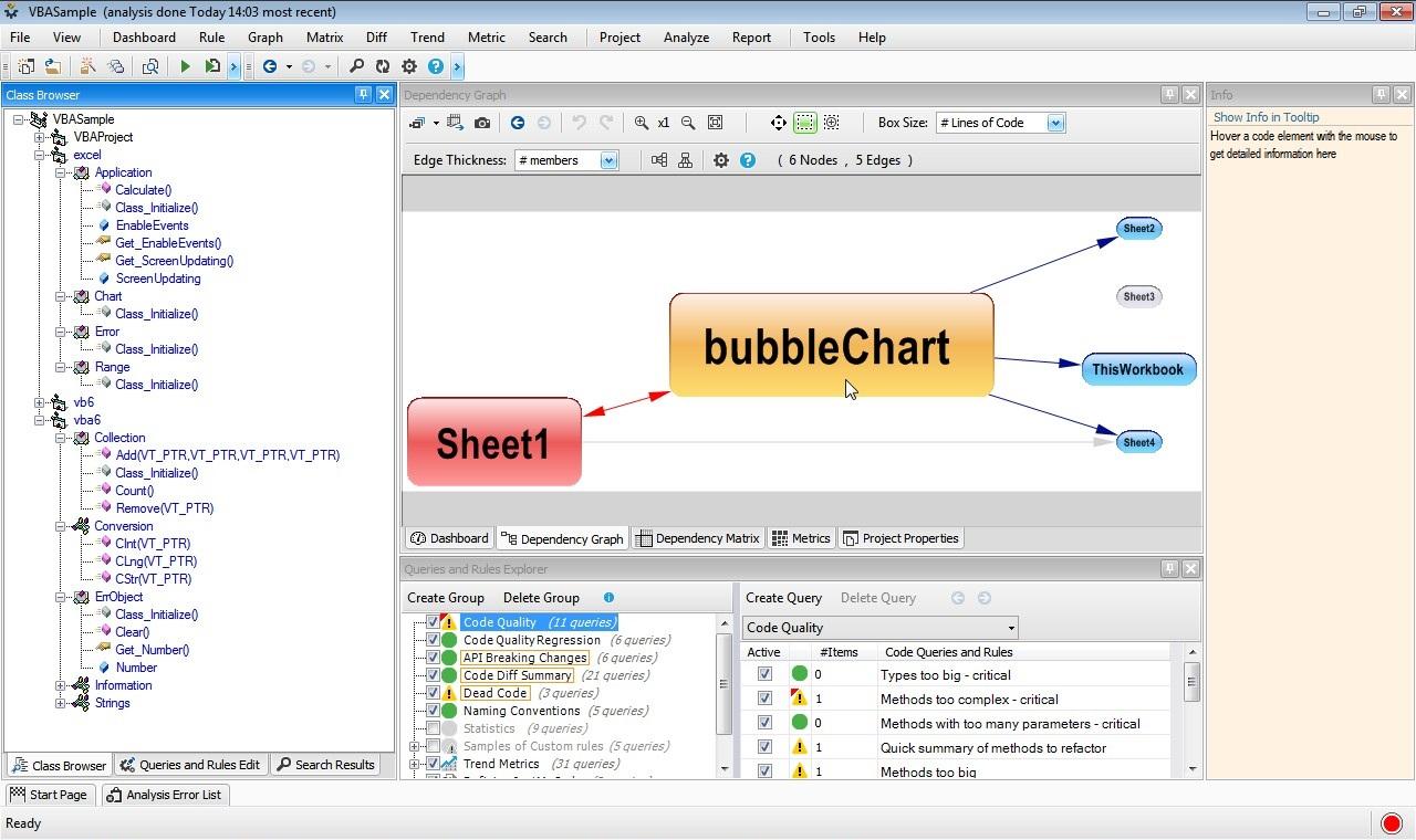 VBDepend :: VB6/VBA Static Analysis and Code Quality Tool